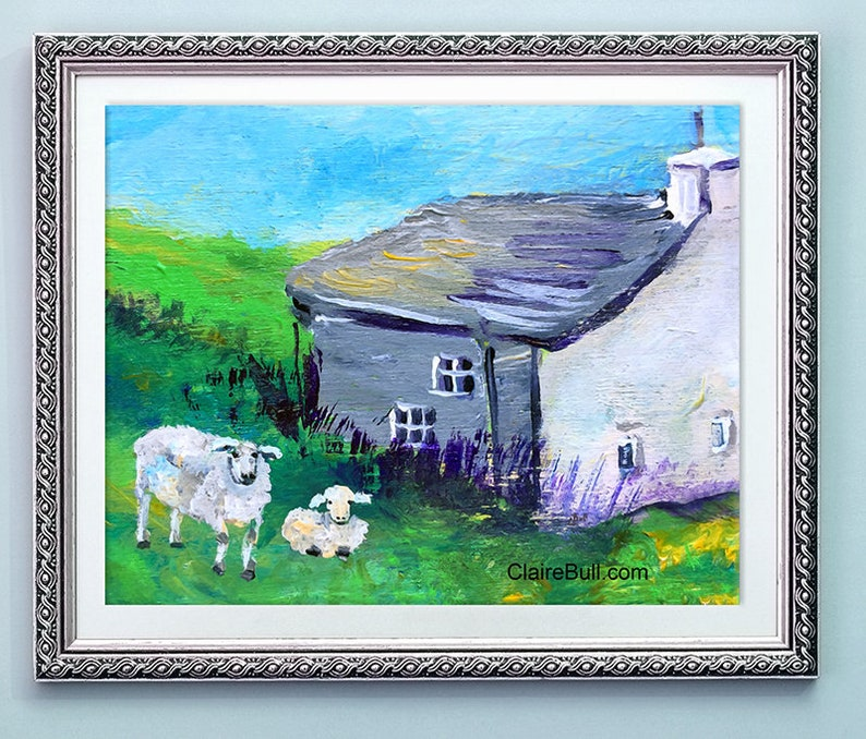 Sheep Art Print 10 x 7.5 12 x 16 inches 18 x 24 size with image 0