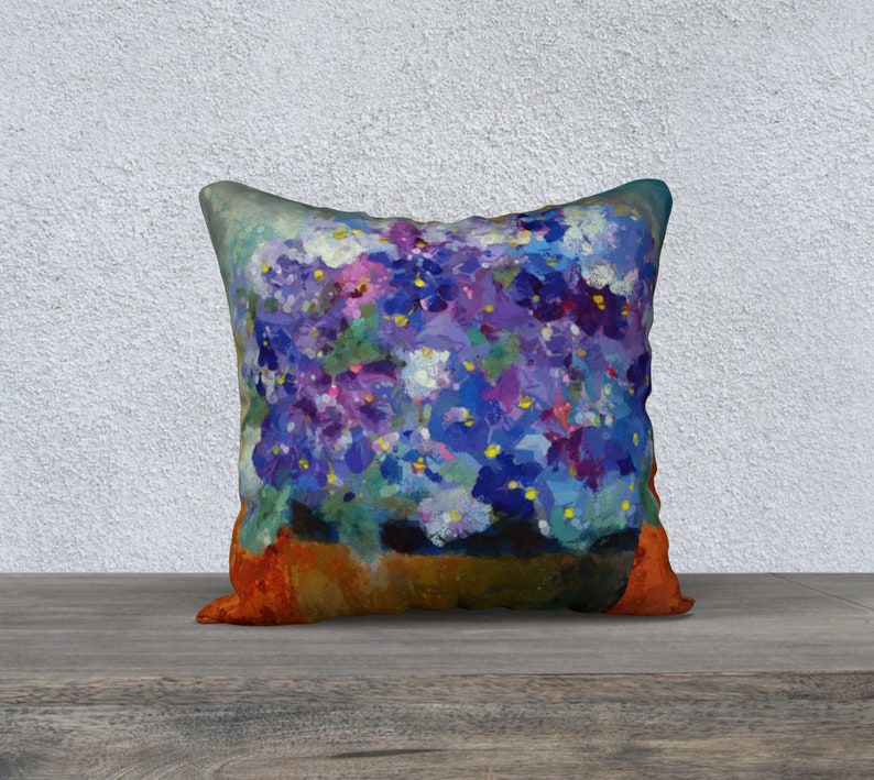 Violet Love 18 x 18 inch Throw Pillow Decorative Floral image 0