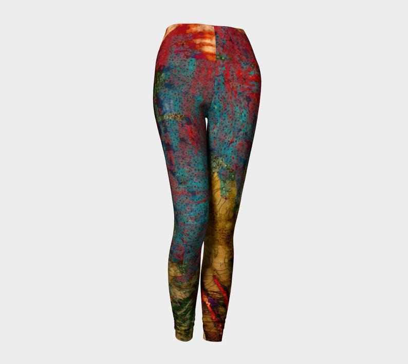 Circles of Color Yoga leggings Yoga pant Unisex design His image 0