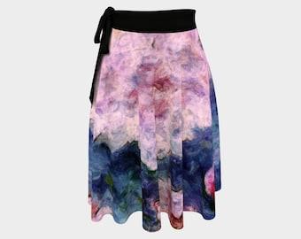 Peony Flowers Ballet Wrap Skirt, Beach Cover Up, Dance Wrap Around Skirt, Gypsy Mini Skirt, Yoga Skirt, Feminine Workout Skirt for Yoga