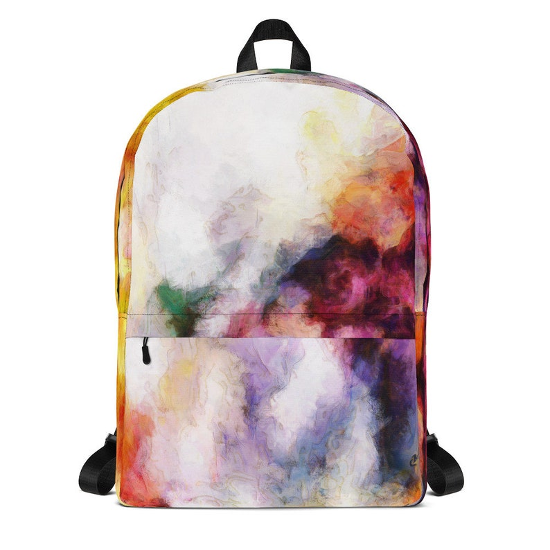 Backpack with Abstract Art 16 x 12 inch Backpack with image 0