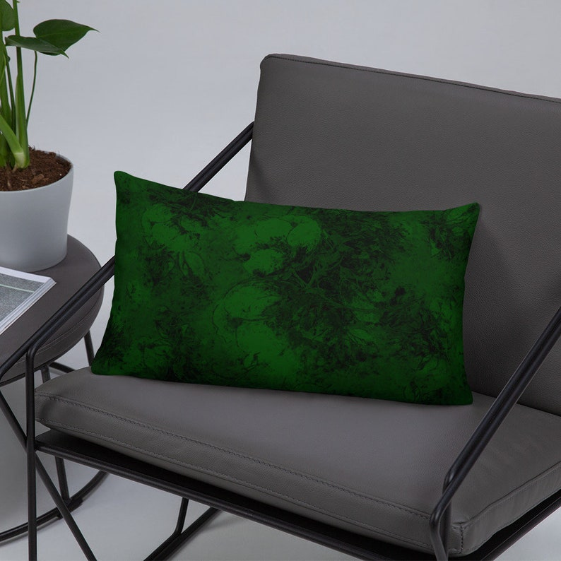 Evergreen Blossoms Lumbar Support Pillow 12 x 20 inches image 0
