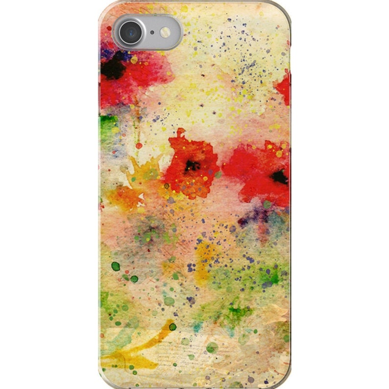 Iphone XR Case With Poppies Watercolor Art Iphone Xs Max image 0