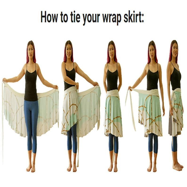 Hippie Skirt for Festivals Ballet Skirt Vintage Lace Wrap Skirts Feminine Clothes for Dance Studio Yoga Small to XL one size fits all