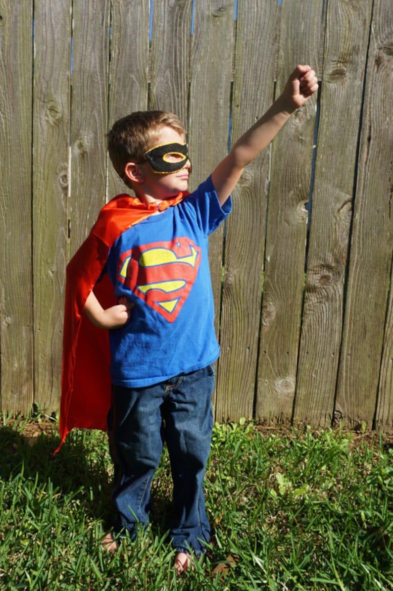 Superman Blue Kids Superhero Cape Queen Avengers Batman King Black Red Party Favors Girls Costume Child Magicians Dress Up