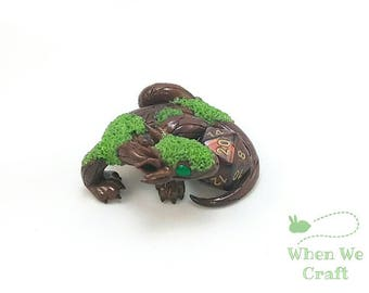 Moss Covered Dice Dragon