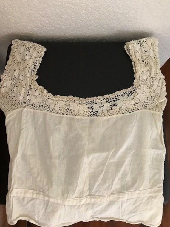 Vintage Edwardian Cotton Corset Cover
