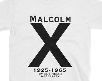 4617c071b Malcolm X By Any Means Necessary Shirt // Pro Black // Afrocentric // Black  Pride // Nation of Islam // Revolutionary // RBG // Garveyite //