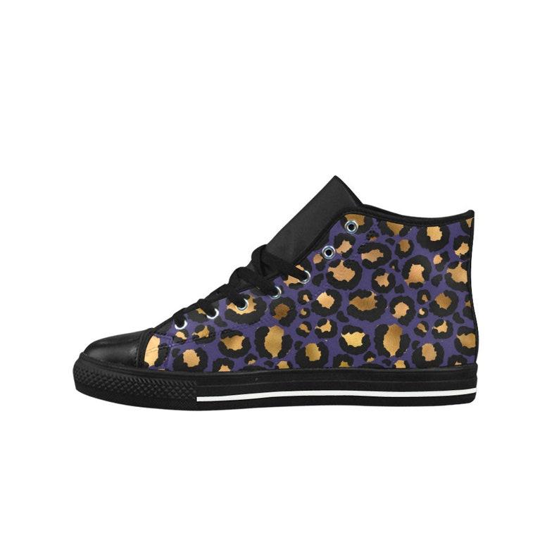 Sneakers stampa leopardo per le donne / / microfibra pelle fEAkchSB