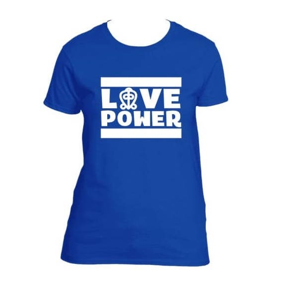 African Clothing For Women Love Power Adinkra Symbol Shirt Etsy