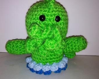 Crocheted Cthulhu doll
