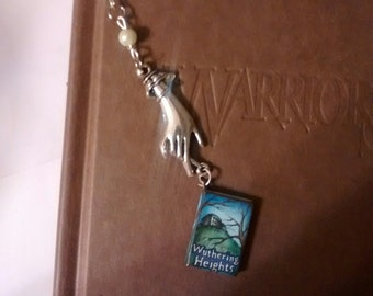 HANDMADE METAL BOOKMARK, Wuthering Heights, handmade, book, mark, literature, literary, accessories, reading, read