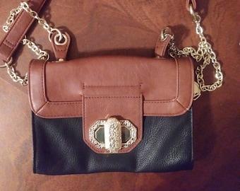 vintage, BIG BUDDHA PURSE, Big Buddha, purse, shoulder bag, brown, black, gold, shoulder, cross body, clothing, accessories