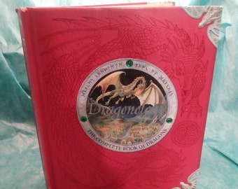 DRAGONOLOGY The Complete Book of Dragons, vintage, collectibles, book, fantasy, sci-fi, dragons, illustrated. artbook