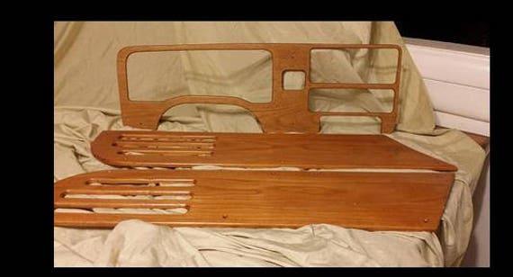 Tablero de carro de madera hecho a mano sólida y puerta