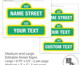 """Main Street  3/"""" x 18/"""" Metal Mini Street Sign"""