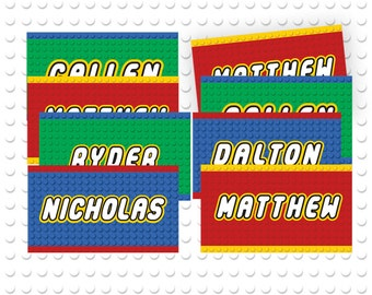picture about Free Printable Lego Labels known as Lego drinking water Etsy