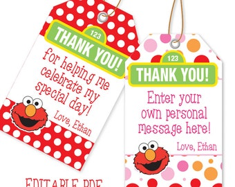 EDITABLE PDF Favor Tags 4 Designs  / Thank You Tags / Instant Download /Favor Tag
