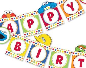 DIY Happy Birthday Sign / Happy Birthday Banner / Party Printable / Digital Files / INSTANT DOWNLOAD