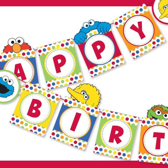 Diy Happy Birthday Sign Happy Birthday Banner Party Etsy