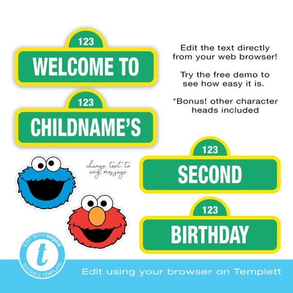 Welcome Sign Happy Birthday EDITABLE Edit Online
