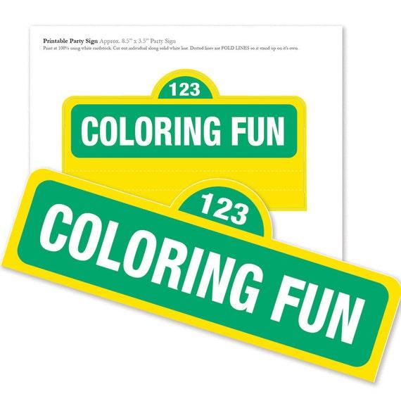 Custom Printable Birthday Coloring Sheets 4 DESIGNS / | Etsy