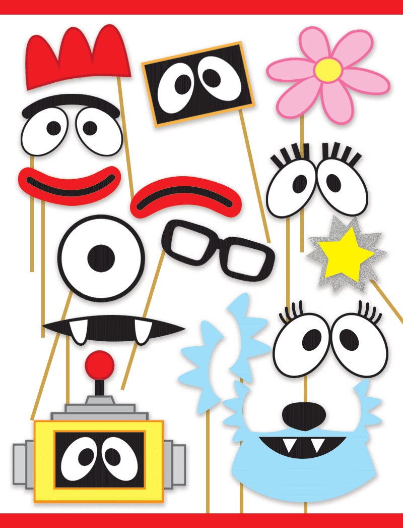 Yo Gabba Gabba Inspired Printable Photo Booth Props Muno Etsy