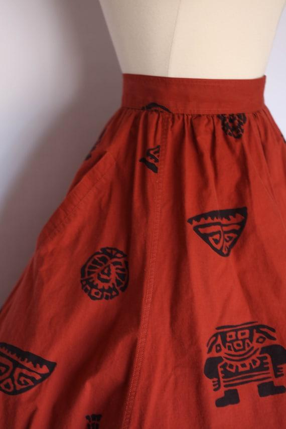 1980s does 1950s skirt,  1980s novelty skirt, 80s… - image 5