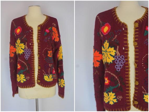 vintage 1990s cardigan, vintage cardigan, vintage