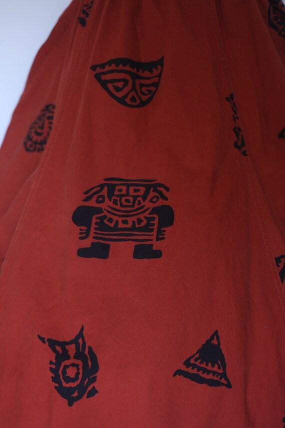 1980s does 1950s skirt,  1980s novelty skirt, 80s… - image 6