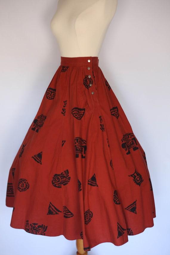 1980s does 1950s skirt,  1980s novelty skirt, 80s… - image 4