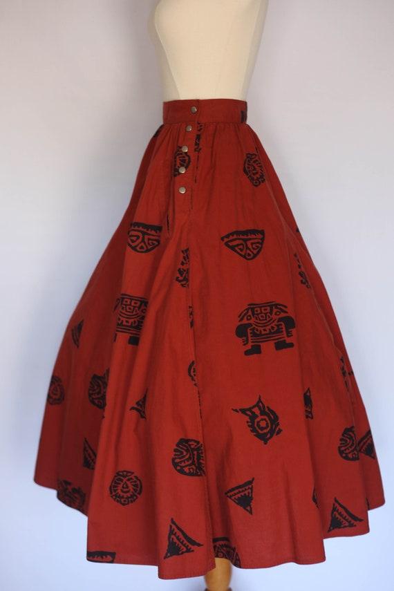 1980s does 1950s skirt,  1980s novelty skirt, 80s… - image 3