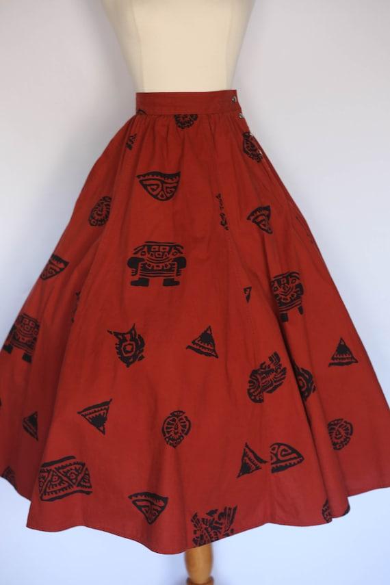 1980s does 1950s skirt,  1980s novelty skirt, 80s… - image 8