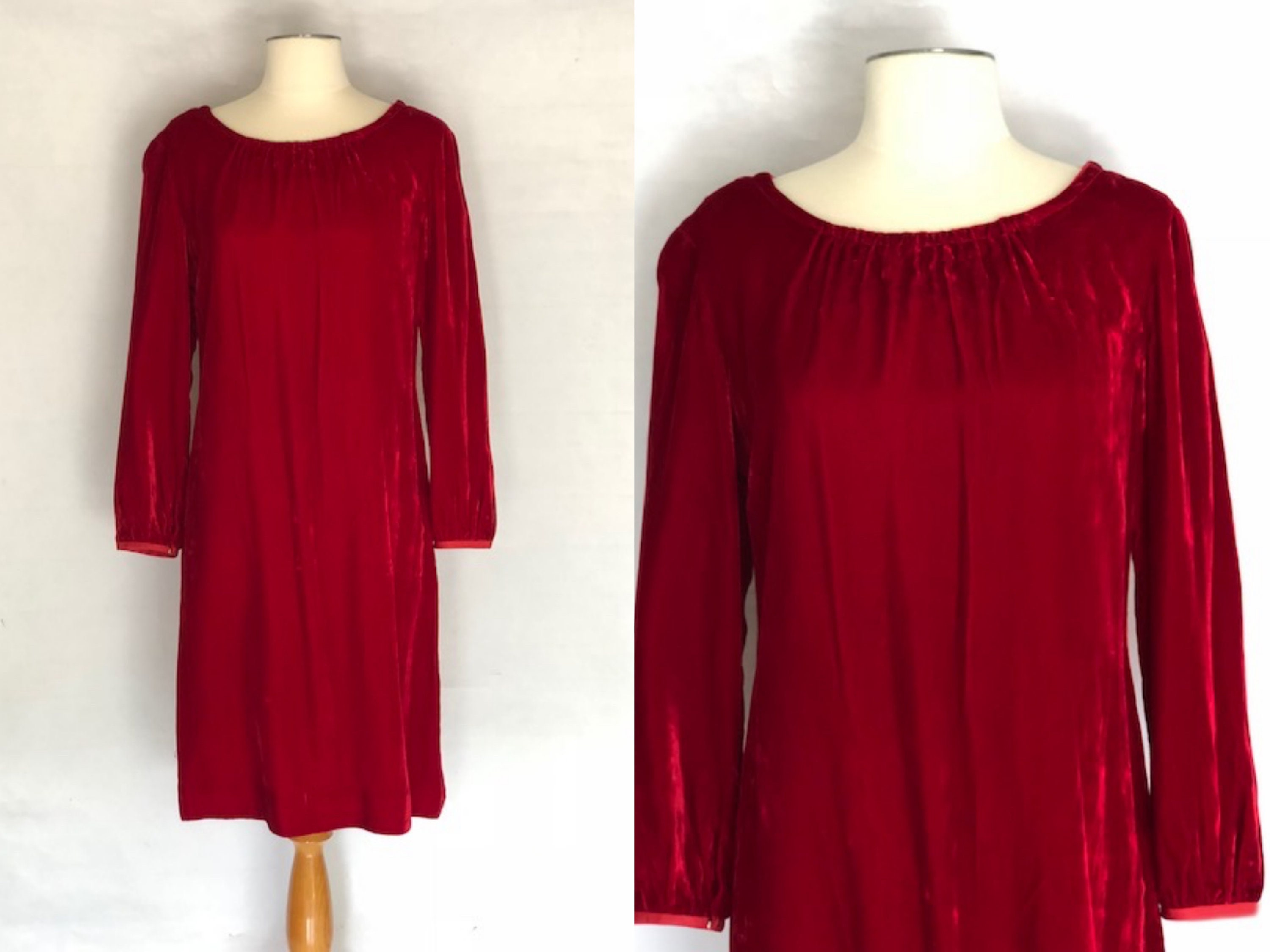 db2899f75e9 1950s red velvet dress 1950s shift dress vintage 50s red