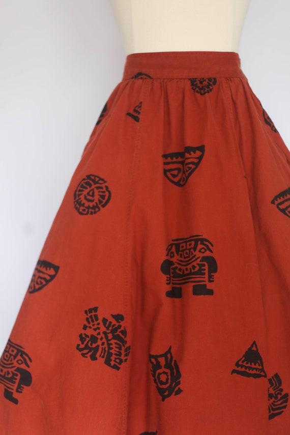 1980s does 1950s skirt, 1980s novelty print skirt… - image 3