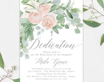 dedication invite etsy
