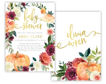 Fall baby shower etsy search results favorite favorited add to added fall baby shower invitation filmwisefo