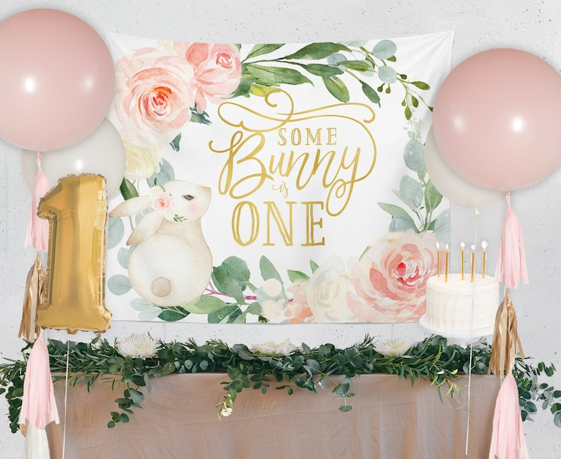 Dessert Backdrop Some Bunny is One Girl Bunny Bunny Cake Table Backdrop Candy Bar Birthday Backdrop Laurel Party Table Background