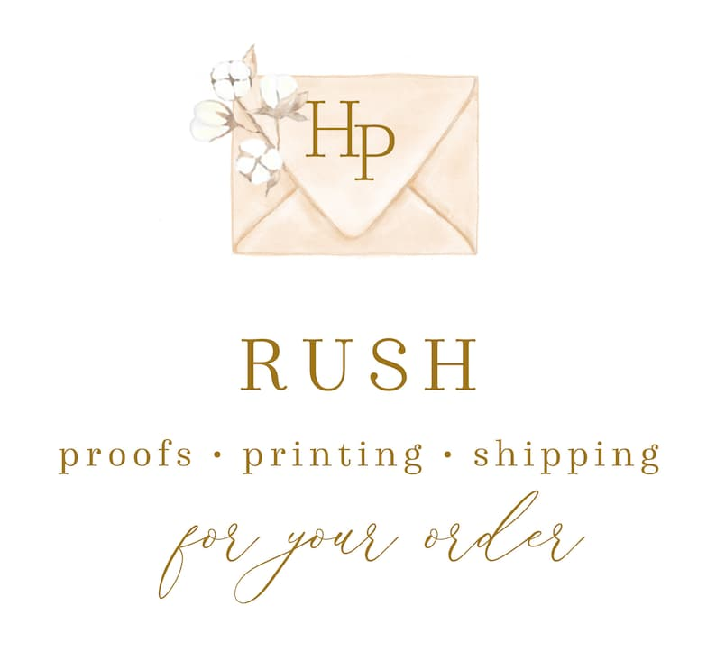 Rush Proofs Printing And/or Shipping For Invitations & Add On image 0