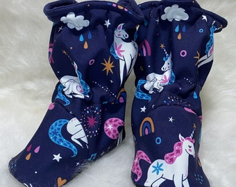 Unicorn Softshell Booties - Water resistant, insulated baby booties
