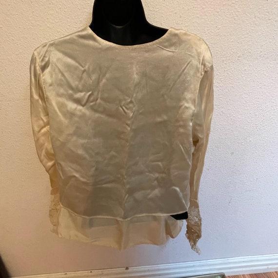 Antique Silk Lace Blouse Shirt Victorian - image 5