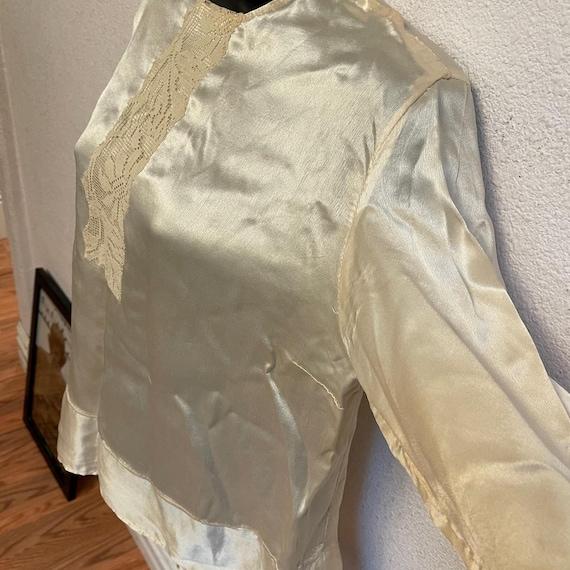Antique Silk Lace Blouse Shirt Victorian - image 6