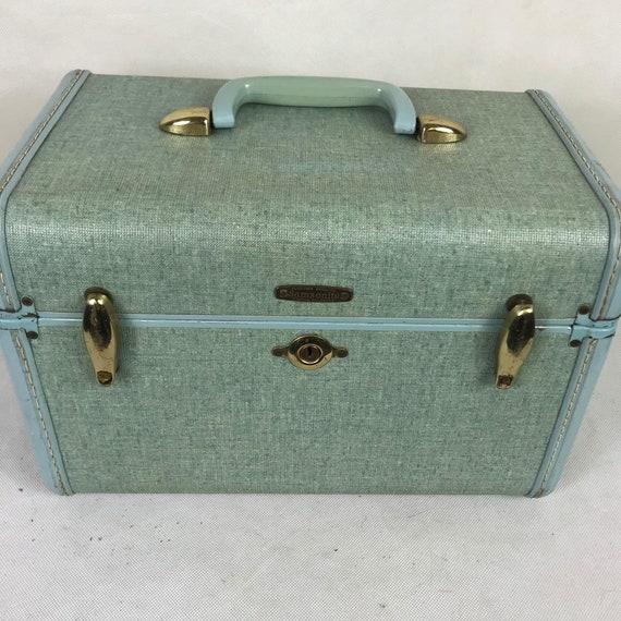 Vintage Samsonite Train Case Turquoise Mad Men