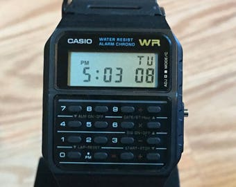 rare vintage casio DATABANK calculator watch NOS NEW w/ instructions