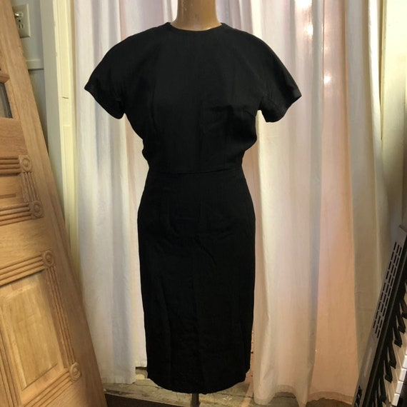 Vintage 1940's Little Black Dress w/ Jacket Cockta