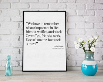 Leslie Knope Parks and Recreation Printable Quote Inspirational Print Instant Download Poster