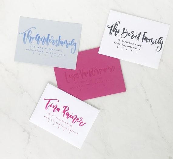 Envelope Addressing Envelope Calligraphy Envelope Etsy