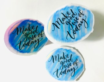 Mental Health Stickers, Mindset stickers, Motivation Laptop decals, Self Love stickers, Look Up, Journal Stickers, Holographic Stickers