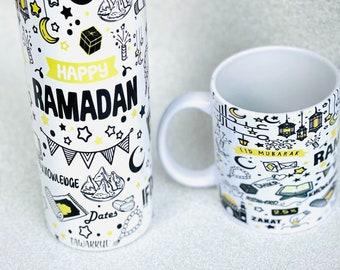 Ramadan Tumbler, Islamic Travel Mug, Muslim Mugs, Ramadan Mubarak, Eid gifts, Ramadan gifts, Islamic gifts, Coffee Tumbler