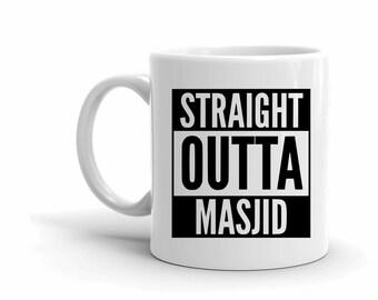 Funny Mugs, Coffee Lovers, Muslim mugs, Masjid Gifts, Straight Outta, Ramadan Mug, Mug with Sayings, Foodie Gifts, Motivational Gifts